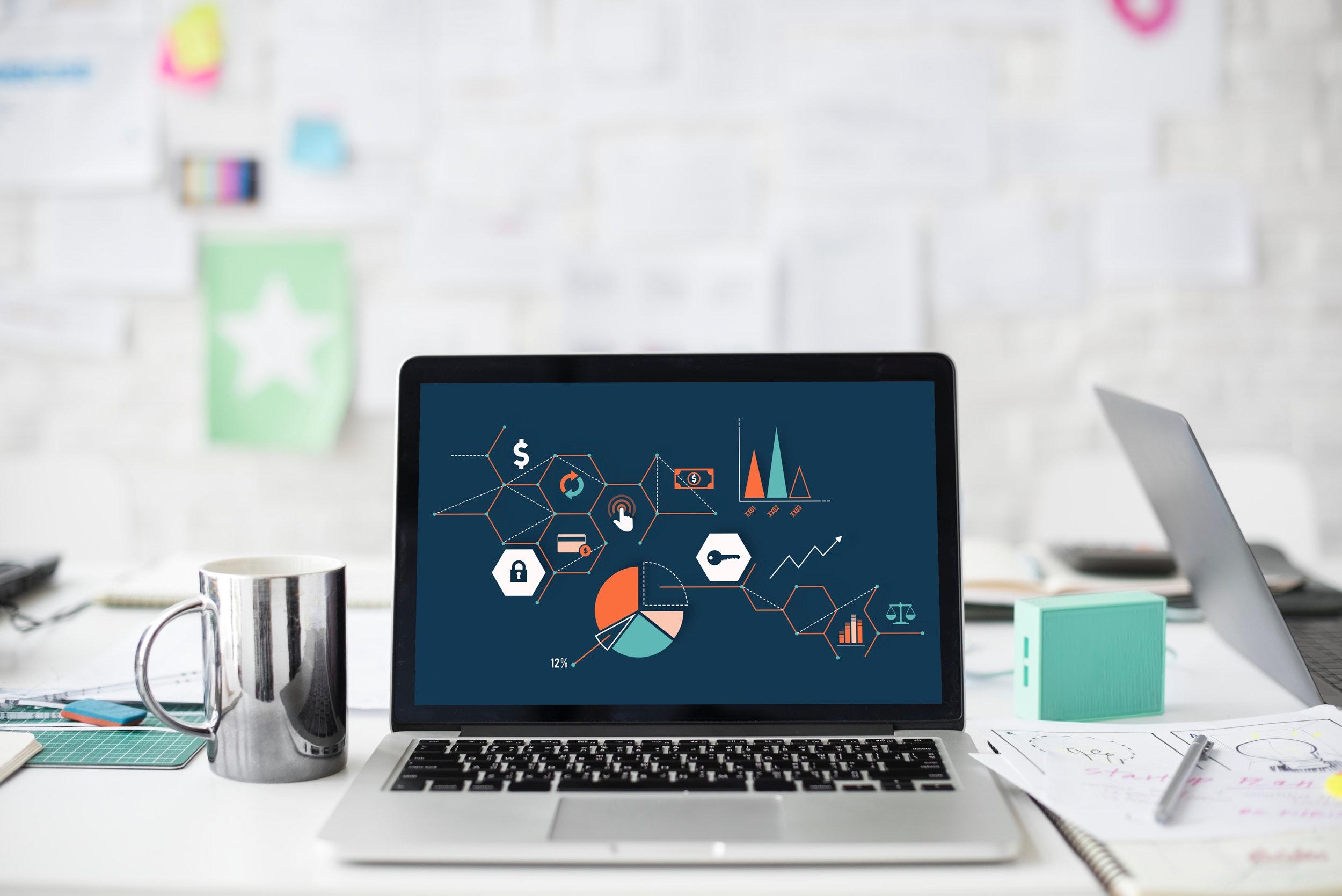 laptop, learning, coffee, desk