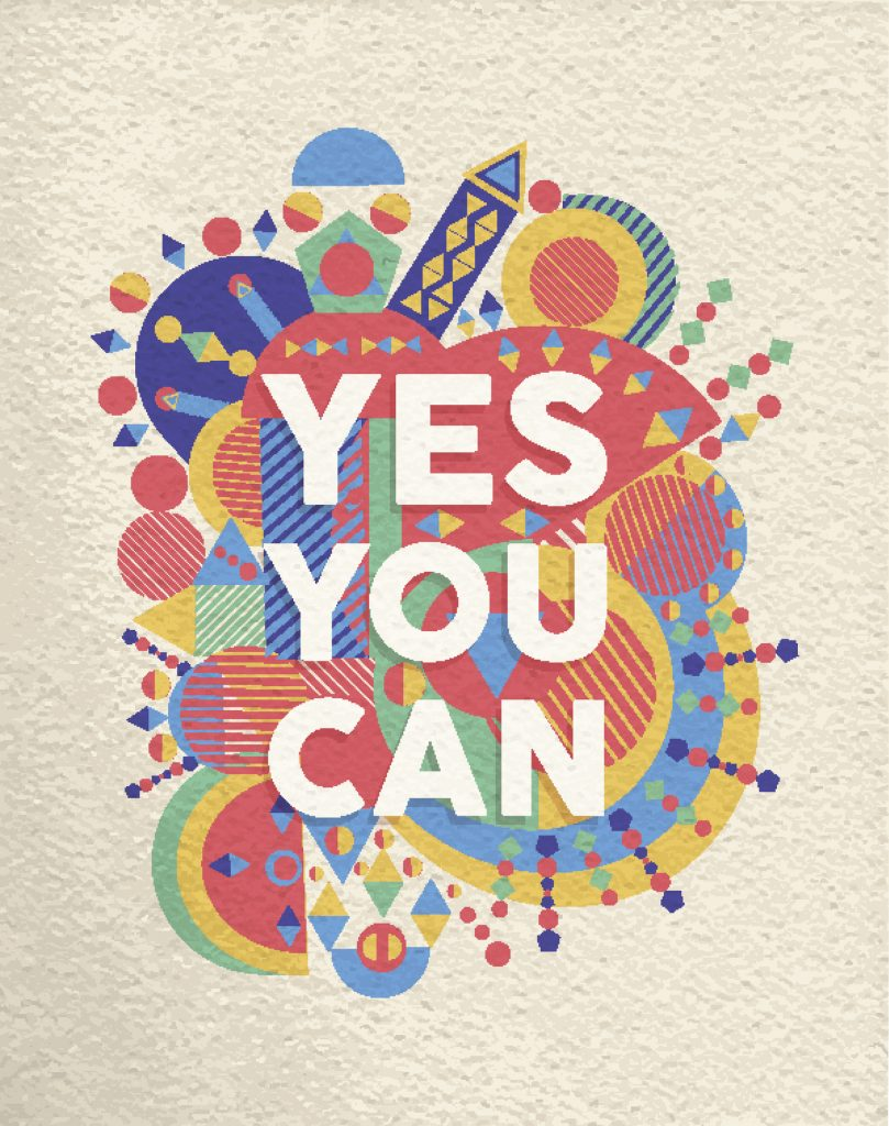 yes, you, can, motivation, poster